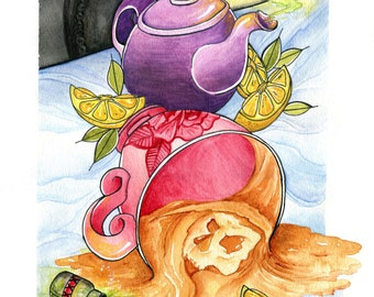 Twisted Tea Party Print
