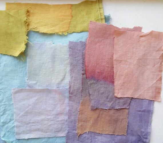 Custom Botanically Dyed Floursack Tea Towels / Custom Dyed / Dyed Cotton / Natural Dyed Cotton / Personalized Gift / Housewarming Gift /
