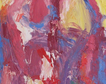 Lagerstroemia ABSTRACT Painting 12 x 12 ORIGINAL colorful pink lavender home and garden