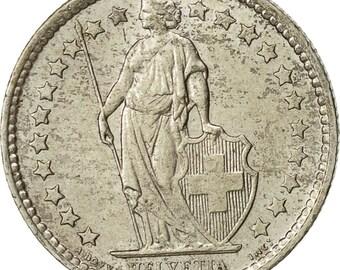 switzerland 1/2 franc 1958 bern ef(40-45) silver km23