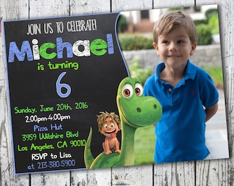 Good dinosaur Invitation, Good Dinosaur Birthday, The Good Dinosaur Birthday Party, The Good Dinosaur Birthday Party