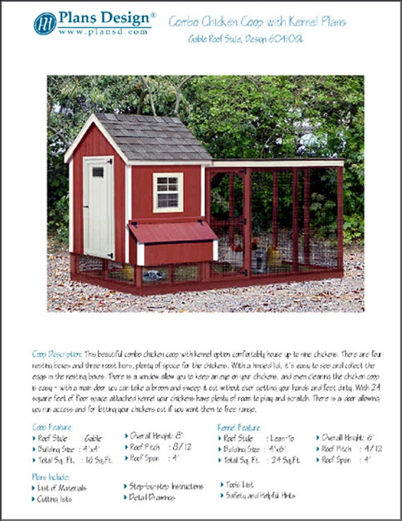 Two-in-One Backyard Chicken Coop Plans with Kennel / Run