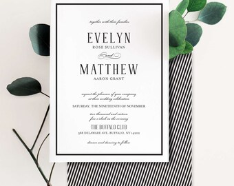A Perfect Union Wedding Invitation Suite