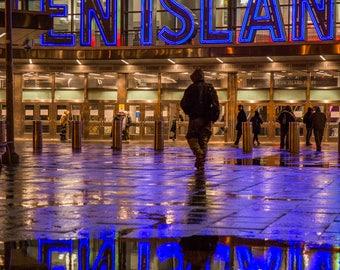 Staten Island Ferry Terminal in the Rain - Downtown Manhattan - New York Financial District - FiDi - New York City Photography