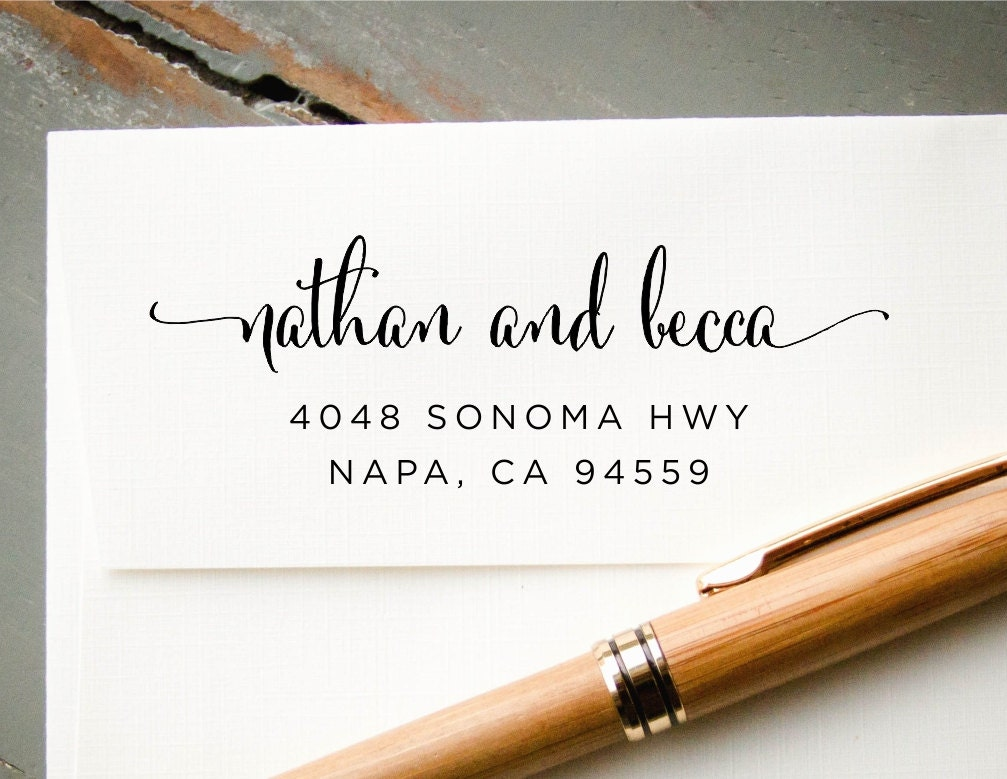Personalized Rubber Stamps For Wedding Invitations: Self-Inking Return Address Stamp Personalized Custom Rubber