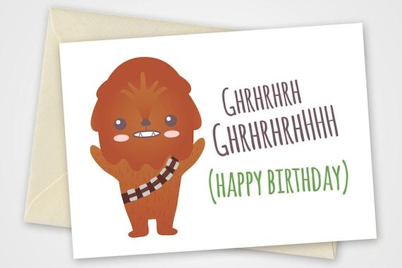 Auguri Matrimonio Star Wars : Biglietto chewbacca per augurare buon compleanno in formato a