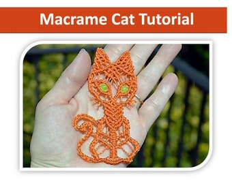 Tutorial - Macrame Cat Step-by-step instructions with images