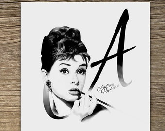 Audrey Hepburn 'Breakfast at Tiffany's Blank Card