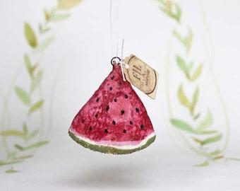 Miniatur Melone Nostalgischer Christbaumschmuck Wattefigur Ornament Spun Cotton
