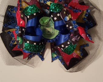 """5"""" High Top Inside/Out Hairbow, Multi colored Hairbow, Red Hairbow, Blue Hairbow, Green Hairbow"""