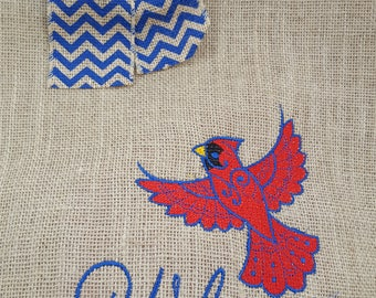 Mother's Day Gift, Cardinal Garden Flag, Burlap Garden Flag, Hostess Gift, Family Gift, Burlap Flag, Cardinals Appear When Angels Are Near