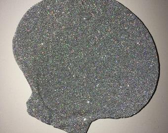 Glittery jewelry seashell caddy