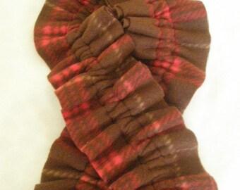 Childs fleece simple ruffle scarf
