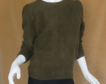 Brown Fuzzy Sweater Size Small