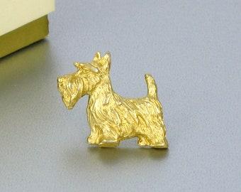 1984 Vintage AVON 'My Favorite Pet Pin - Scottie' Tac Pin with Original Box. Vintage Dog Pin. Vintage Avon Jewelry. Vintage Scottie Pin.