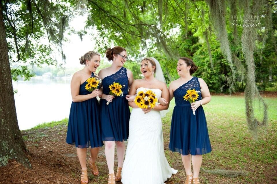 Sunflower Silk Bridal Bouquet Wedding Fall