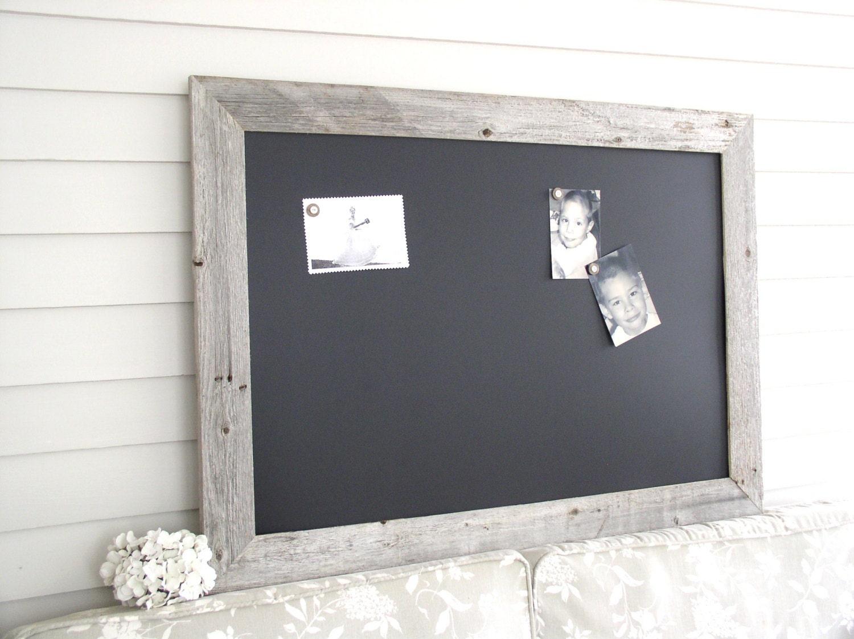 Magnetic framed chalkboard barnwood bulletin board large zoom jeuxipadfo Gallery