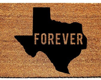 Texas Forever Doormat