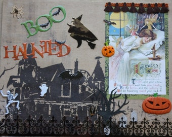 Halloween Decor: Collage Art (Haunted Dreaming)