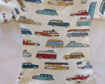 ORGANIC Baby Bodysuit Vintage Camping - Multiple Sizes - HANDMADE