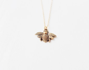 Gold Bee Necklace | Boho Jewelry | Bee Jewellery | Gift | SALE
