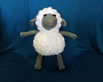 Crochet plush lamb
