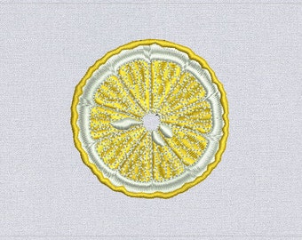 Lemon - Machine embroidery design - instant download