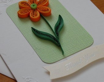 Thank you - quilled card