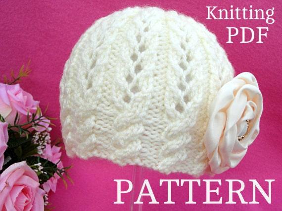 Knitting Pattern Baby Girl Hat Beanie Knit Baby Hat Patterns Baby