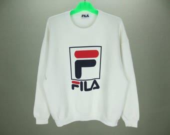 Fila Sweatshirt Men Size S/M Vintage Fila Pullover 90s Fila Vintage Sweat