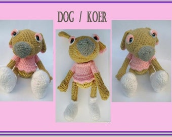 Amigurumi dog-Dog-Crochet stuffed animal