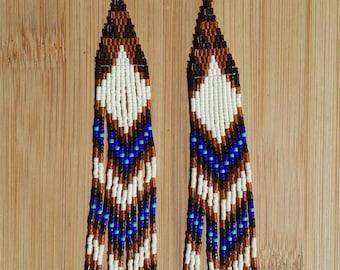 Bone white & Brown Cha-Cha-Changes  earrings