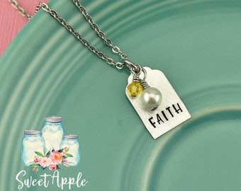 Faith Necklace, Confirmation Gift, Religious Gift, Baptism Necklace, Faith Jewelry, Religious Necklace, Christian Necklace, Inspirational