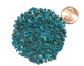 Crushed Dark Chrysocolla Stone Inlay, Coarse, 1/2 Ounce (Batch 1)