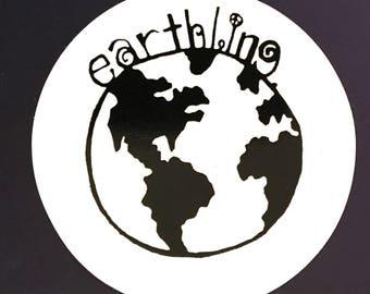 earthling vinyl STICKER