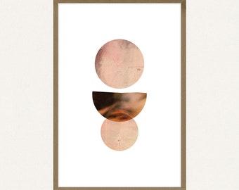 24x36 Poster Size - Abstract Circles - Printable Art