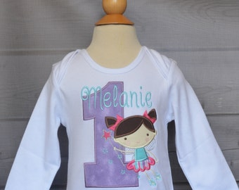 Personalized Birthday Fairy Princess Applique Shirt or Bodysuit Girl or Boy