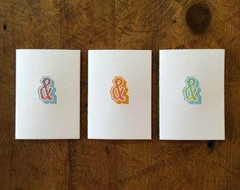 Ampersand Letterpress Cards