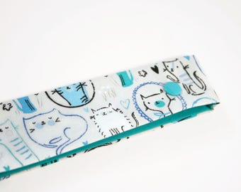 Cats DPN Holder, DPN Needle Case, 8 Inch Double Pointed Knitting Needle Cover / Cosy, Knitter Gift