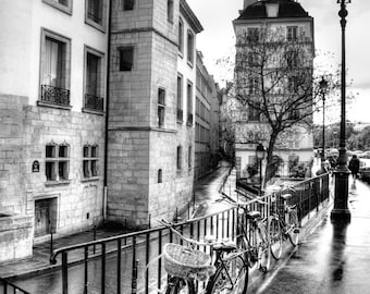 Bicycle gift, Paris, Wall Art, Photography, bike, print, poster, Photo - Black and White