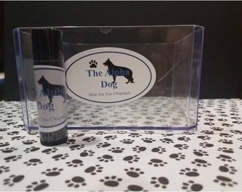 Tea Tree & Mint Lip Protectant/chapstick/law enforcement gifts/support our four legged K9 cops/Homemade Organic and Fair Trade Ingredients