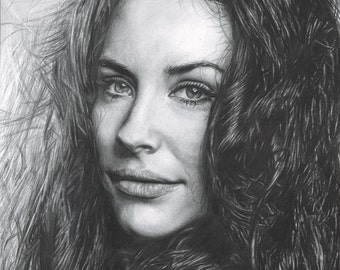 Drawing Print of Evangeline Lilly from LOST / Ant-Man / The Hobbit