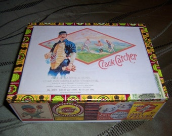 Crack Catcher Cigar Box Baseball Stadium