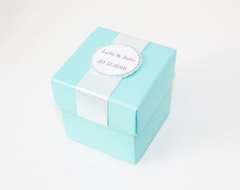 Tiffany blue boxes etsy turquoise blue favor boxes teal blue boxes wedding party favor boxes wedding gift negle Images