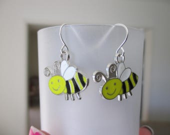 Spring  Critter Bee honey bee Garden charm Earrings ,  Whimsy  insect earrings , nature earrings ,  gifts for  her, mothers  day  gifts ,
