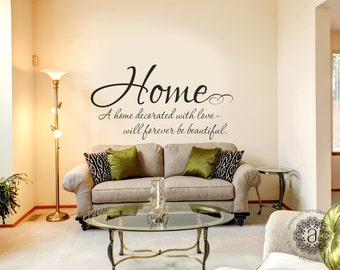 More colors. Family Wall Decals - Home Quote ...  sc 1 st  Etsy : saying wall decals - www.pureclipart.com