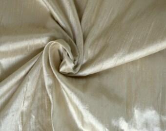 Silk Dupioni in Cream color- Extra wide 52 inches, DEX 263