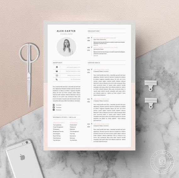 modern resume template  u0026 cover letter icon set for microsoft