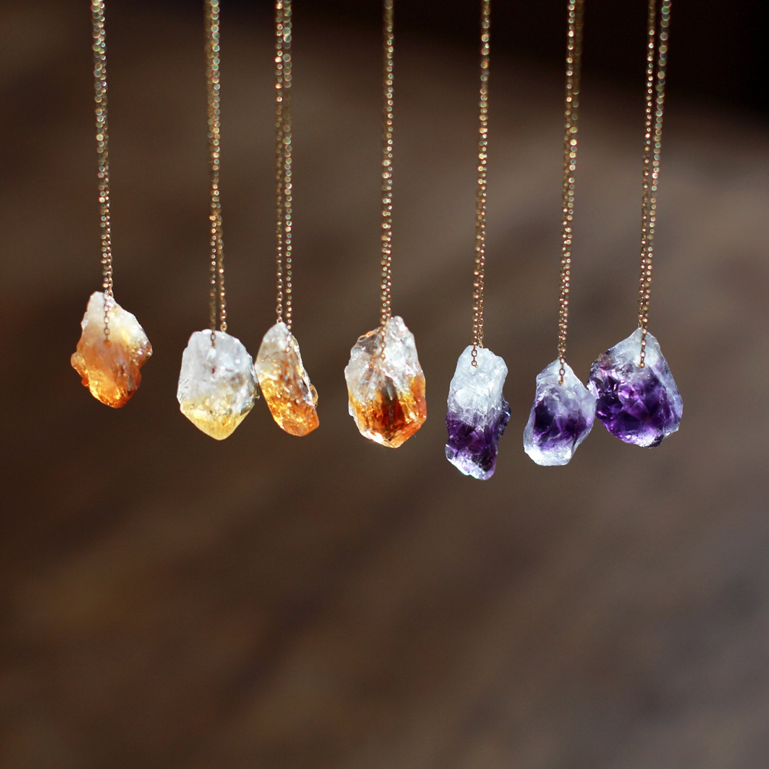 stone necklace long original com product crystal agate by green gaamaa raw notonthehighstreet