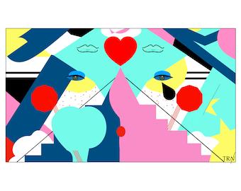 "Graphic Illustration - ""Infernal Journey"""
